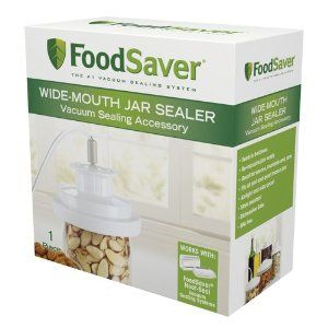 Use your FoodSaver to store salads soups, sliced fruit, dry goods, even leftovers in Mason jars -- they'll stay fresh THREE TIMES AS LONG!