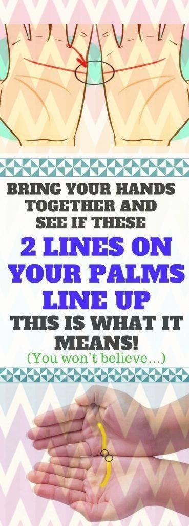 Bring Your Hands Together And See If These 2 Lines On Your Palms Line Up. THIS Is What It Means!