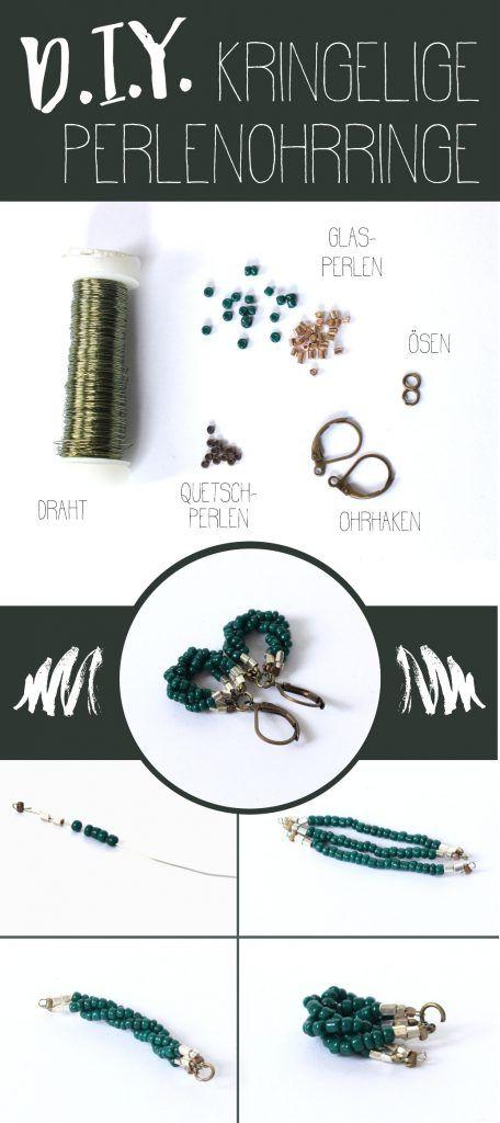 Ein ganz einfaches DIY für wunderschöne Perlenohrringe mit Rocailles