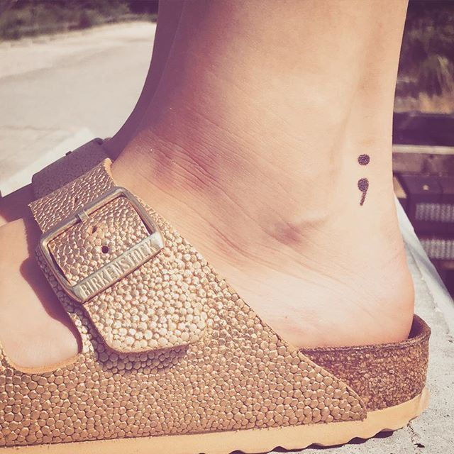 You Need to Know What the Semicolon Tattoo Really Stands For