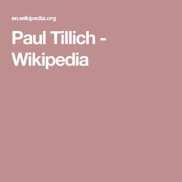 Paul Tillich - Wikipedia
