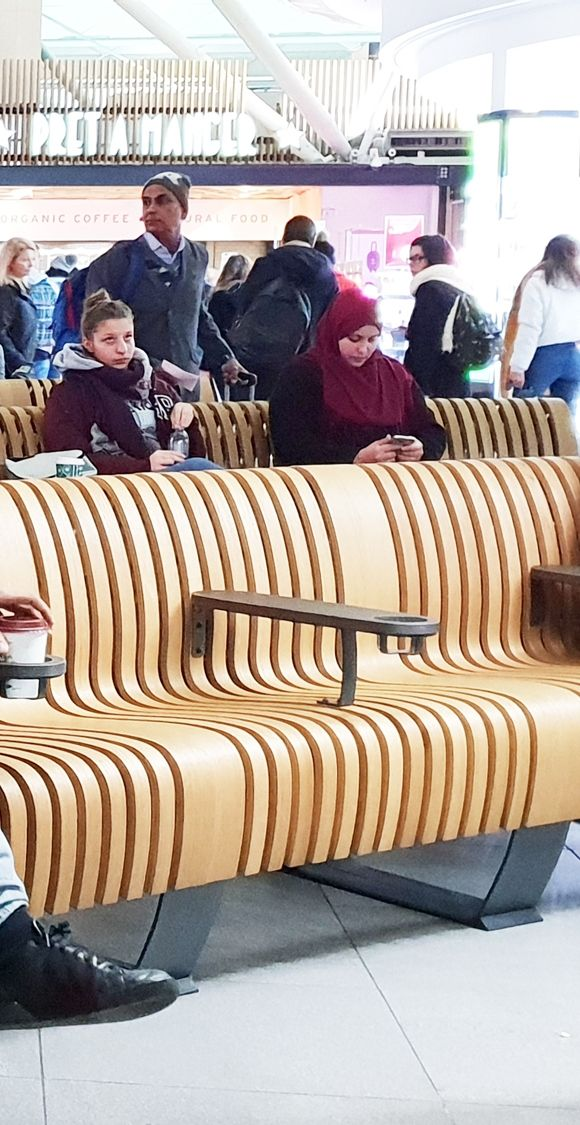 London Stansted Airport Terminals Green Furniture