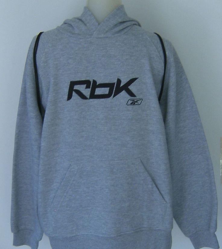 Reebok Hoodie Set Sweatshirt T Shirt Cinch Bag Youth Boys L Black Gray #Reebok #Everyday