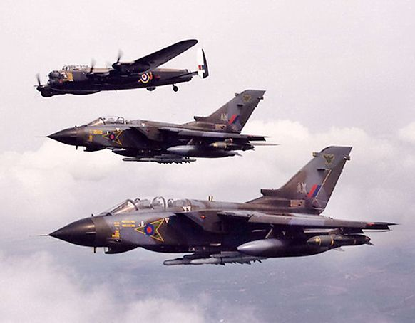 "ahhh you beauties of RAF Lossiemouth 617 Squadron ""Dambusters""    ""After me, the Flood"""