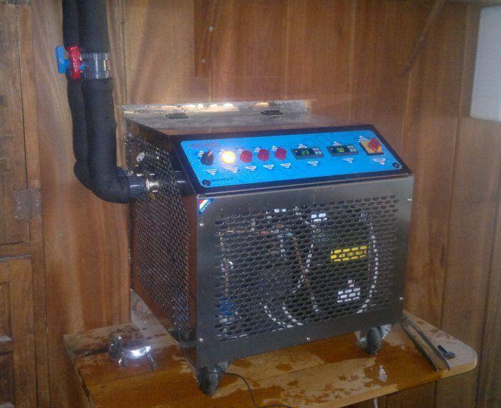 Equipo de frío Winus instalado en el interior de la bodega