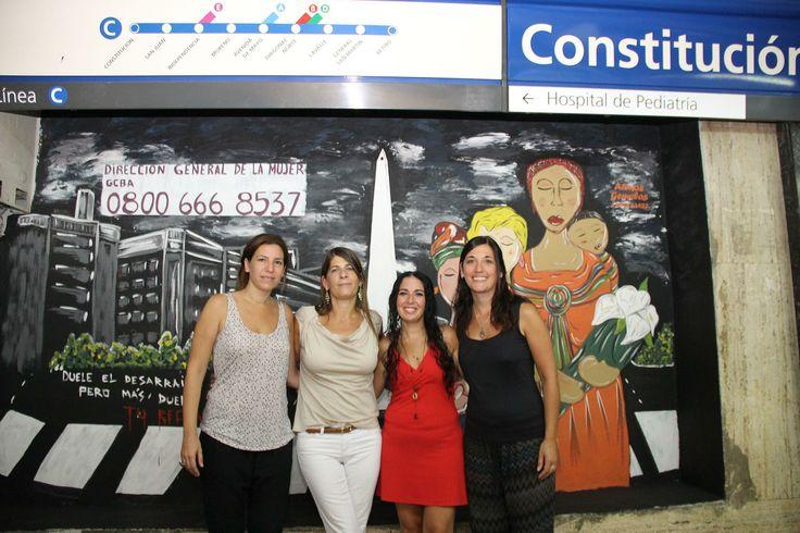 La DG de la Mujer inauguró un mural en  la estación Constitución de subte en conmemoración al Día de las Mujeres Migrantes
