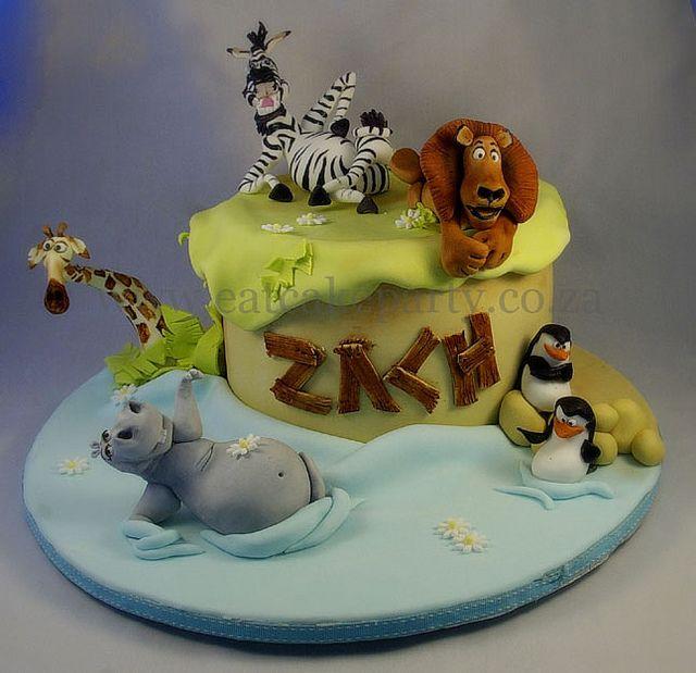 Zach's Madagascar Cake by ♥Dot Klerck....♥, via Flickr
