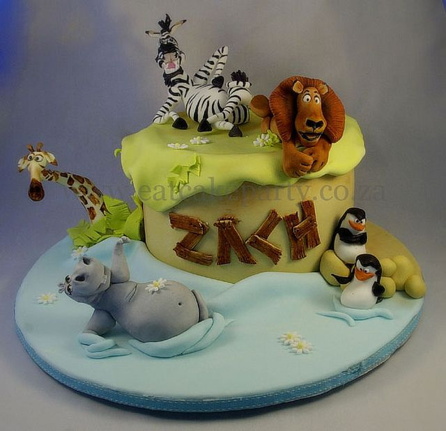 Zach's Madagascar Cake by ♥Dot Klerck....♥, via Flickr