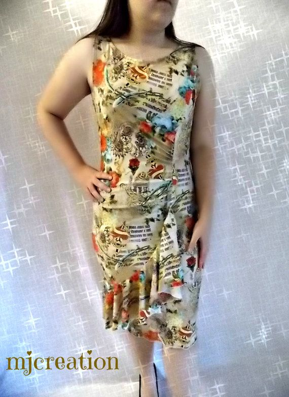 Dress size  large close fitting  mjcreation ready by mjcreation, $52.00