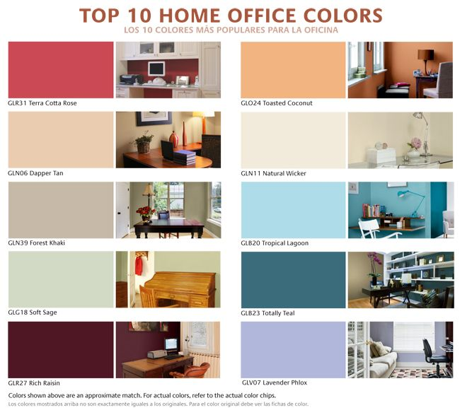 gliddens top 10 colors for your home office or workspace toasted coconut or lavendar phlox