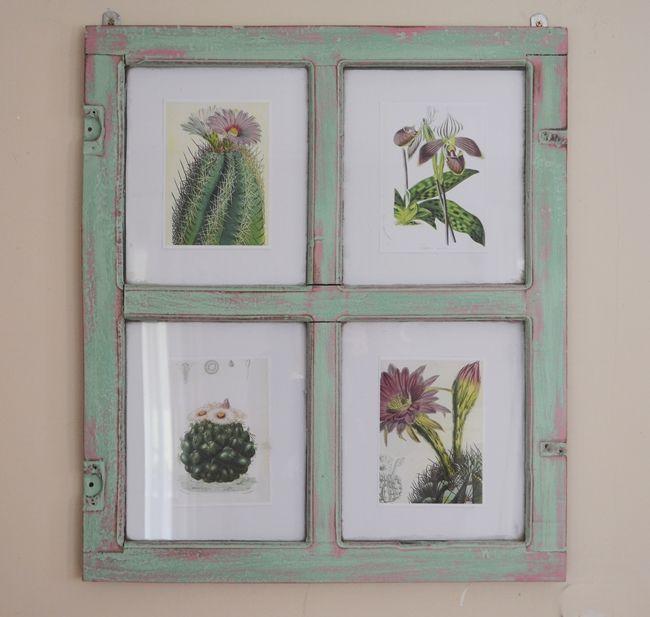 Reciclar: de ventana a marco {DIY}
