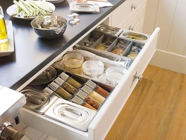 Die besten 25+ Gewürzschublade Ideen auf Pinterest Gewürzregal - schubladen ordnungssystem küche