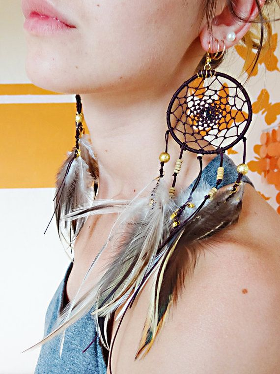 Long Handmade Dream Catcher Earrings Etsy Faqacc My Style Jewelry