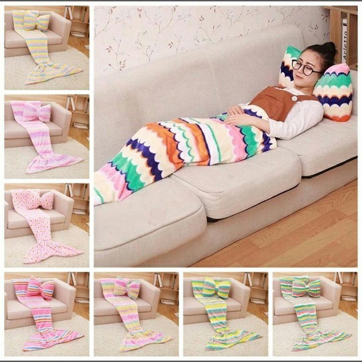 Русалка одеяло хвост коралловый флис одеяло русалка одеяло взрослых трикотажные русалка подушка одеяло дети для детей оптовая плед покрывало на диван