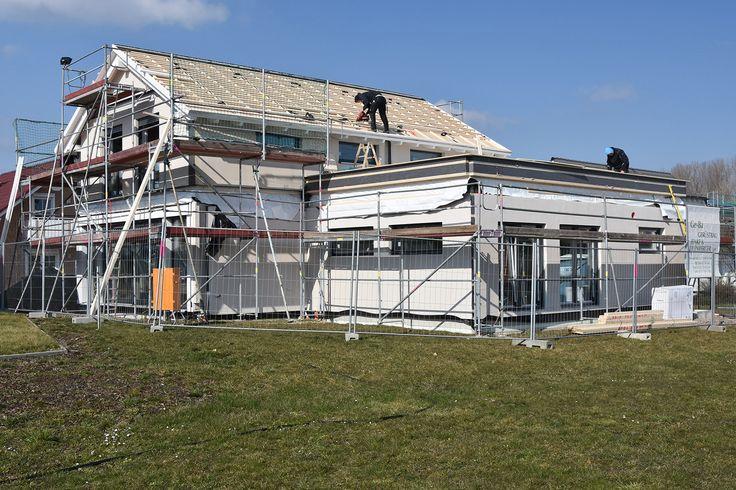 11. KW 2016 Montage Obergeschoss #musterhaus #musterhausausstellung #kampa #haus #bauen #immobilien #ungerpark #bautagebuch #architektur #hausbau #fertighaus #effizienzhaus #energiesparen