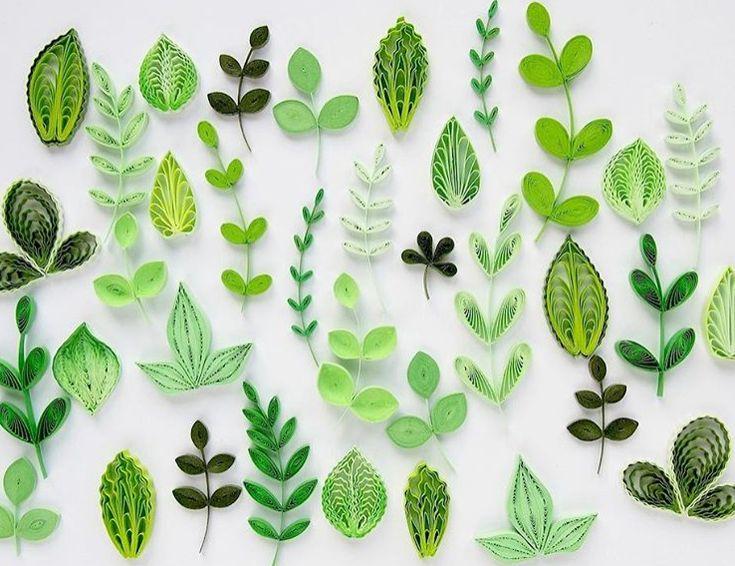 A contemporary tackle #stpatricksday and #shinyleafusa — Festive paper #botanicals fr…