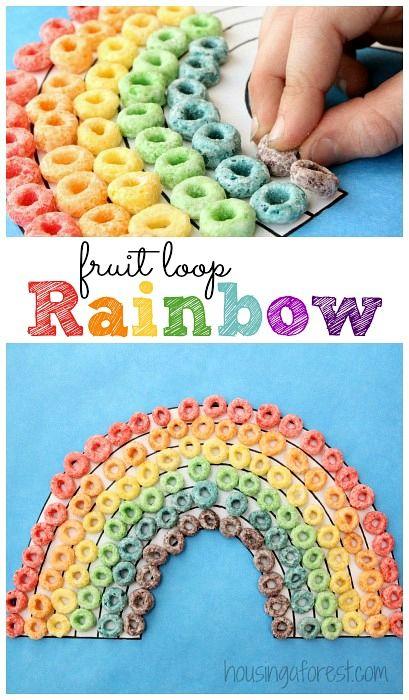 fruit loop rainbow craft simple preschool activity
