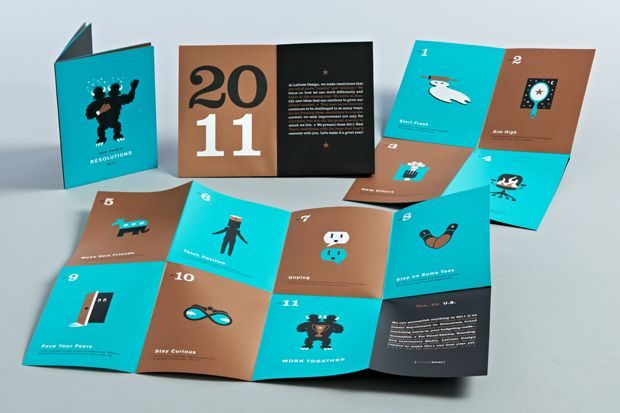 LaCoste new year's 2011 resolution mailer. #mailer #brochure #illustrations