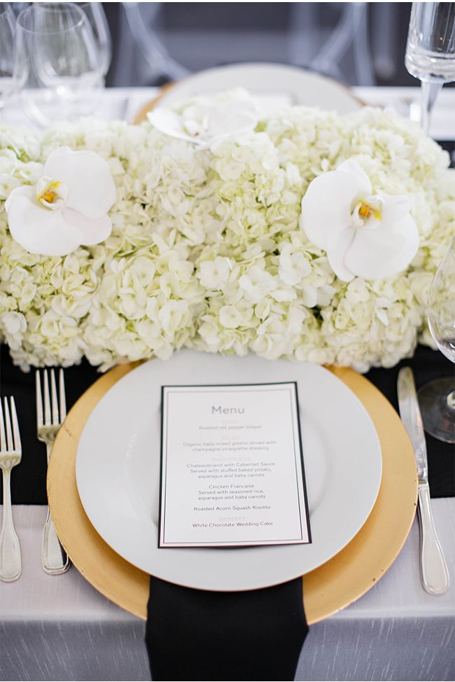Ivory, Black, and Gold via StyleUnveiled.com / Seattle Wedding / Cheryl Ford Photography