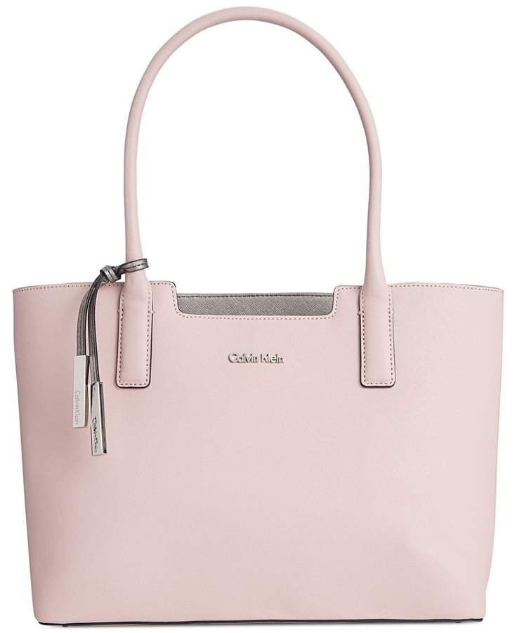 Calvin Klein Saffiano Leather Tote - Calvin Klein - Handbags & Accessories - Macy's