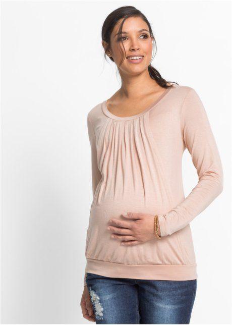Těhotenské/kojící tričko, pro těhotenství i po něm, bpc bonprix collection, beige mat
