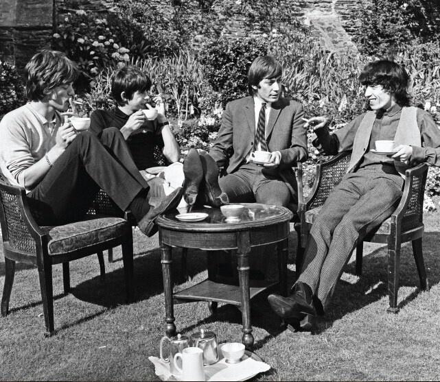 The Rollin Stones having tea