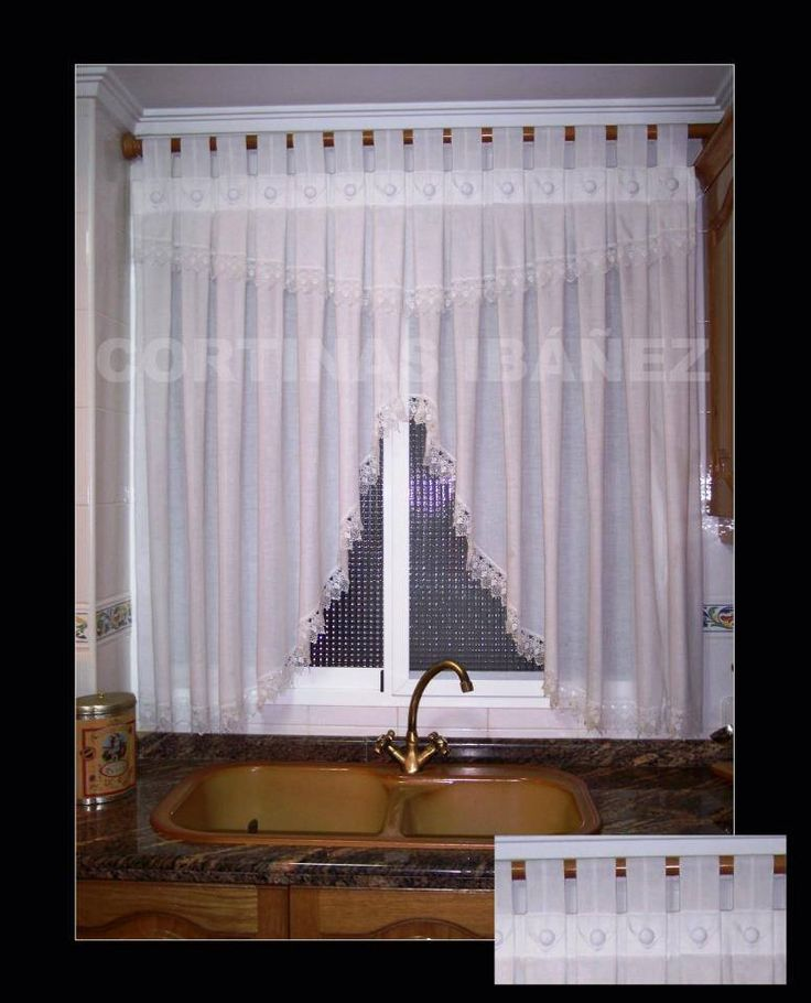 46 best cortinajes para ventanas images on pinterest blinds windows and gift - Telas cortinas cocina ...