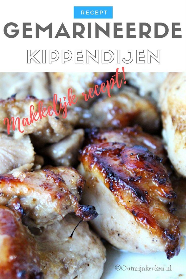 Recept   Gemarineerde Kippendijen uit de oven