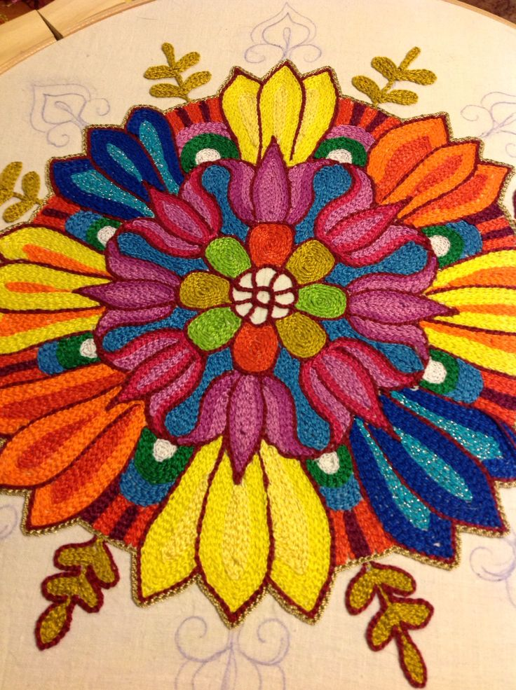 Tambour embroidery.