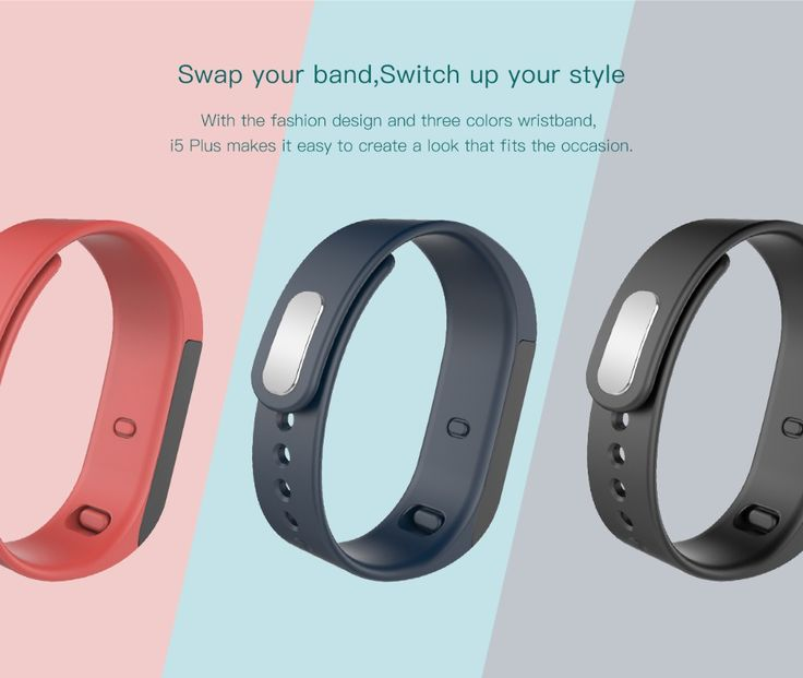 I5 PLUS Waterproof Bluetooth Smart Vibrating Alarms Wristband Bracelet For IOS Android