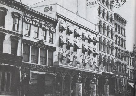 The Olympic Theater on Broadway, circa 1875.