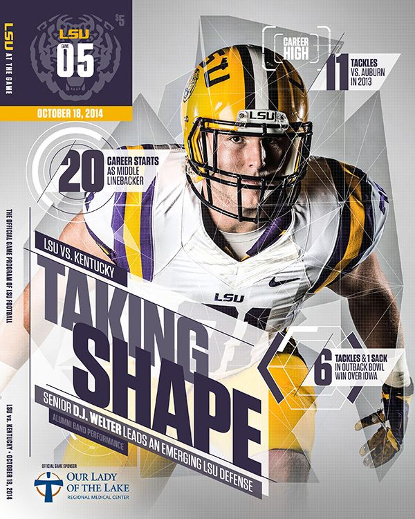 2014-2015 LSU Game Programs on Behance
