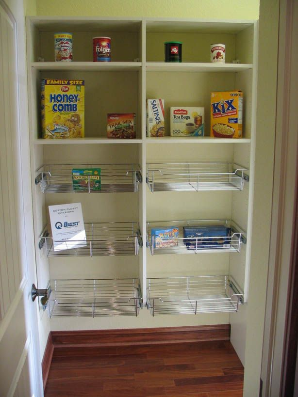 Painting Of Good Walk In Pantry Shelving Systems