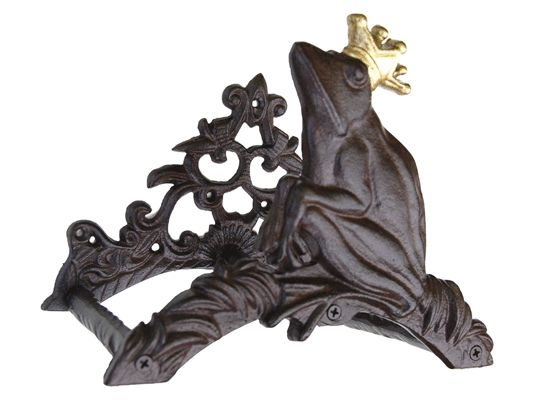 Porte tuyau fonte - Grenouille avec couronne