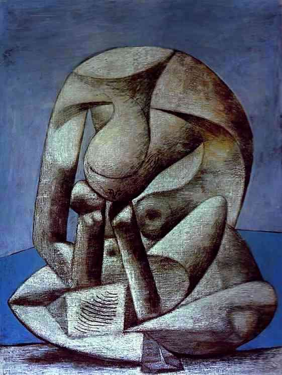 "-""Young Girl Reading a Book on the Beach""  Pablo Picasso (1881-1973)  I wish I could even begin to incorporate this technique into my own.  It's been done by thousands, but I would still love it.  Maybe I'll try."