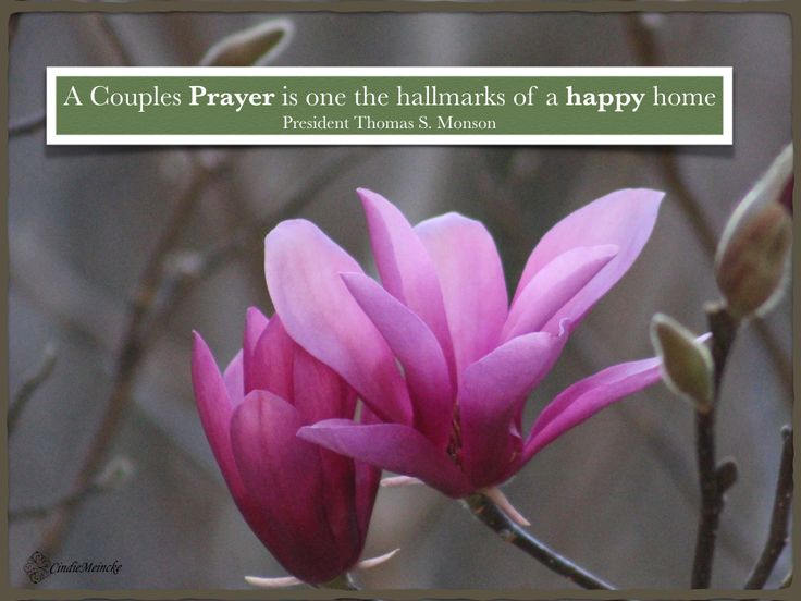 """ A Couples Prayer is one of the hallmarks of a happy home"" President Thomas S. Monson #LDS #familymatters"