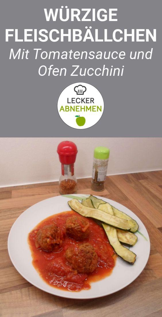 Fleischbällchen in Tomatensauce (Low Carb)