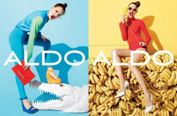Yay for the bright colors! Anais Pouliot is featured in the Aldo Shoes Spring 2012 campaign photographed by Terry Richardson and styling by Sabina Schreder.