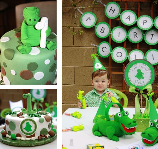 Alligator birthday party theme