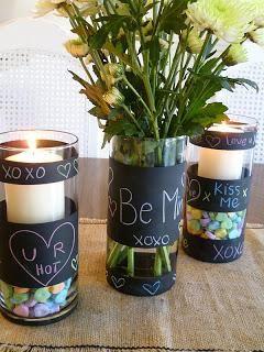 DIY Mother's Day : DIY Chalkboard paint vases