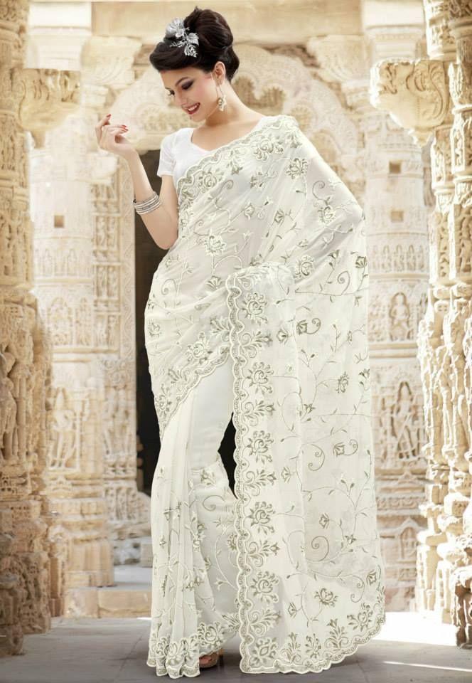 Indian style white wedding dress