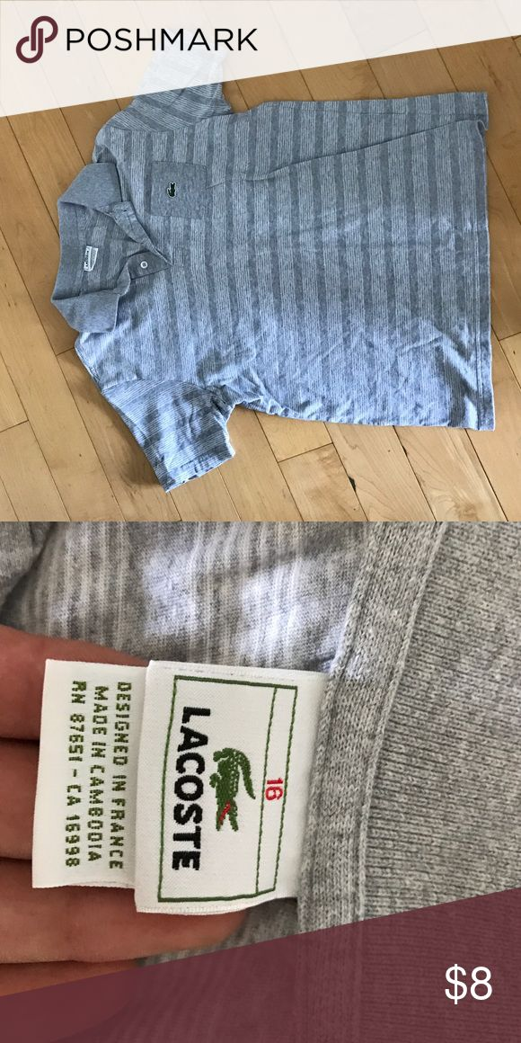 Boys Striped Lacoste Polo Shirt This is a gently used Lacoste polo shirt. There are no stains and the color is still vibrant. Lacoste Shirts & Tops Polos