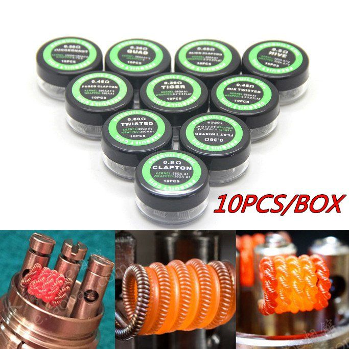 E-XY Flat twisted wire Fused clapton coils Hive premade wrap wires Alien Mix twisted Quad Tiger Heating Resistance rda coil //Price: $6.63 & FREE Shipping //     #hashtag2