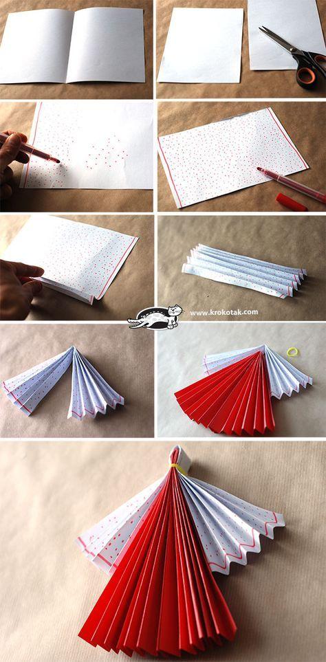 Červené a bílé Paper Dolls