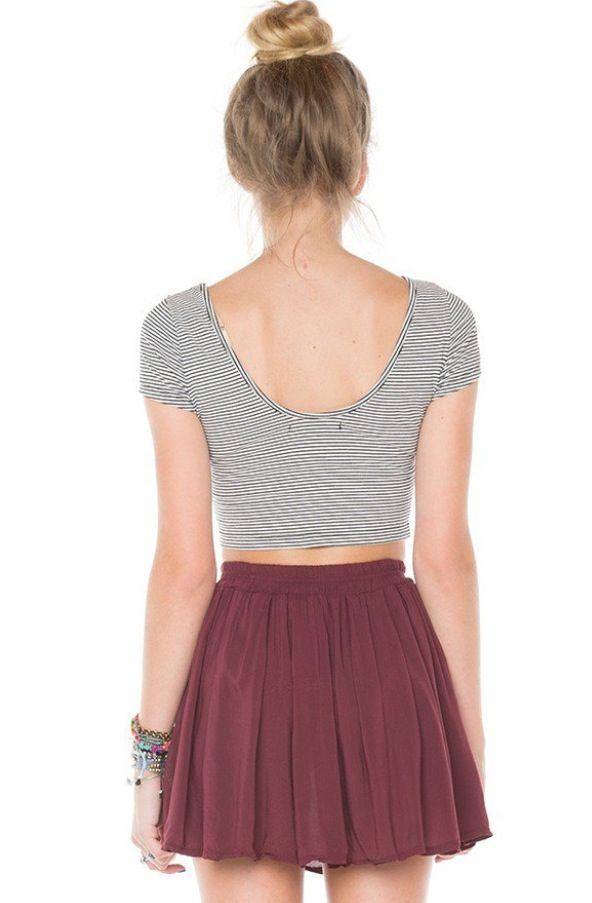 Brandy Melville skirt + crop top