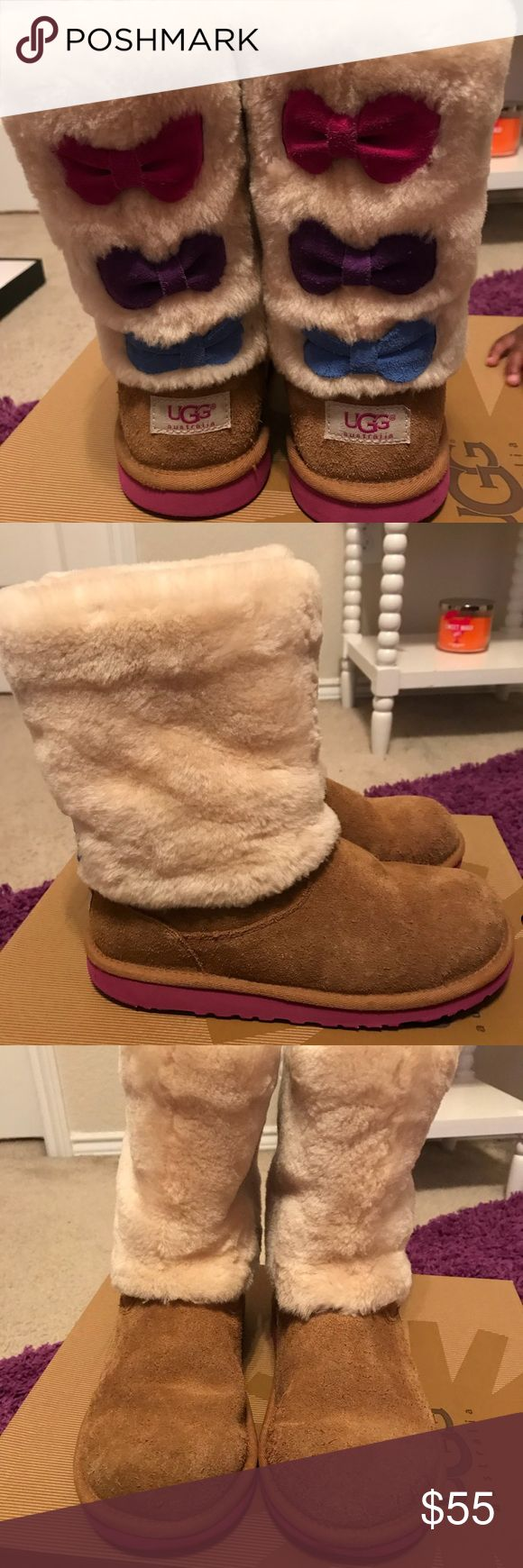 Girl Ugg Boots size 6 Authentic Girl Ugg Boots size 6  Creased toe on right and left foot boot shown in pictures 2 and 3. Comes with original box UGG Shoes Boots