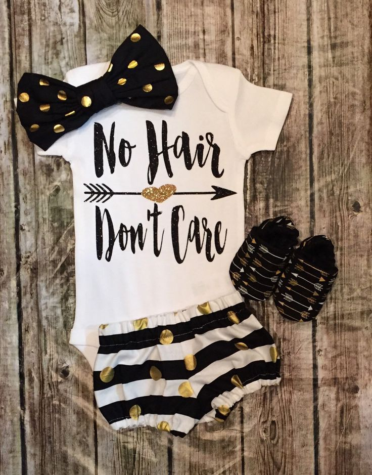 A personal favorite from my Etsy shop https://www.etsy.com/listing/273587534/baby-girl-onesie-no-hair-dont-care
