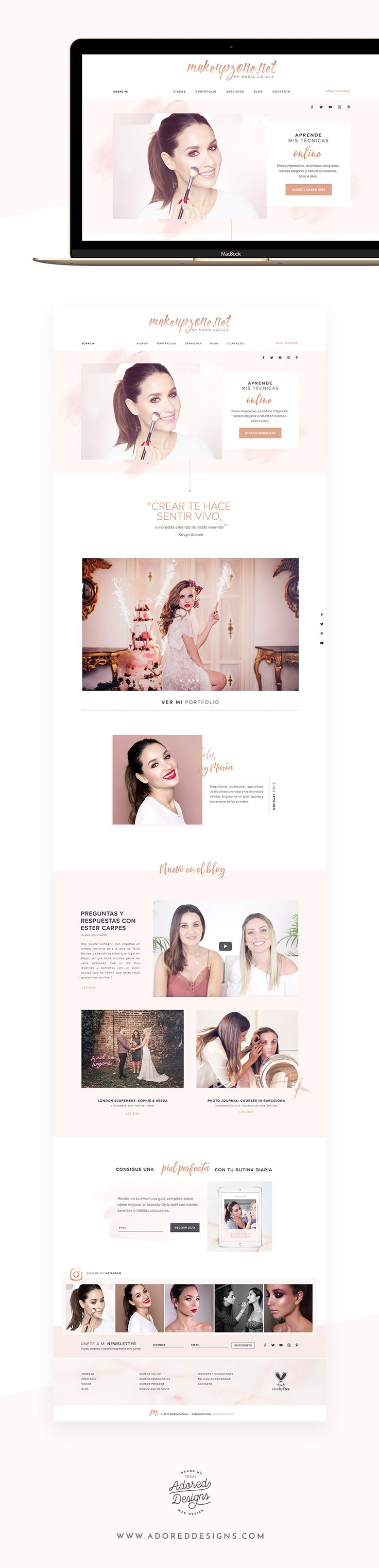 Website for Makeupzone - professional makeup artist María Catala based in Alicante, Spain. Membership site, online courses & blog. See the whole case study!