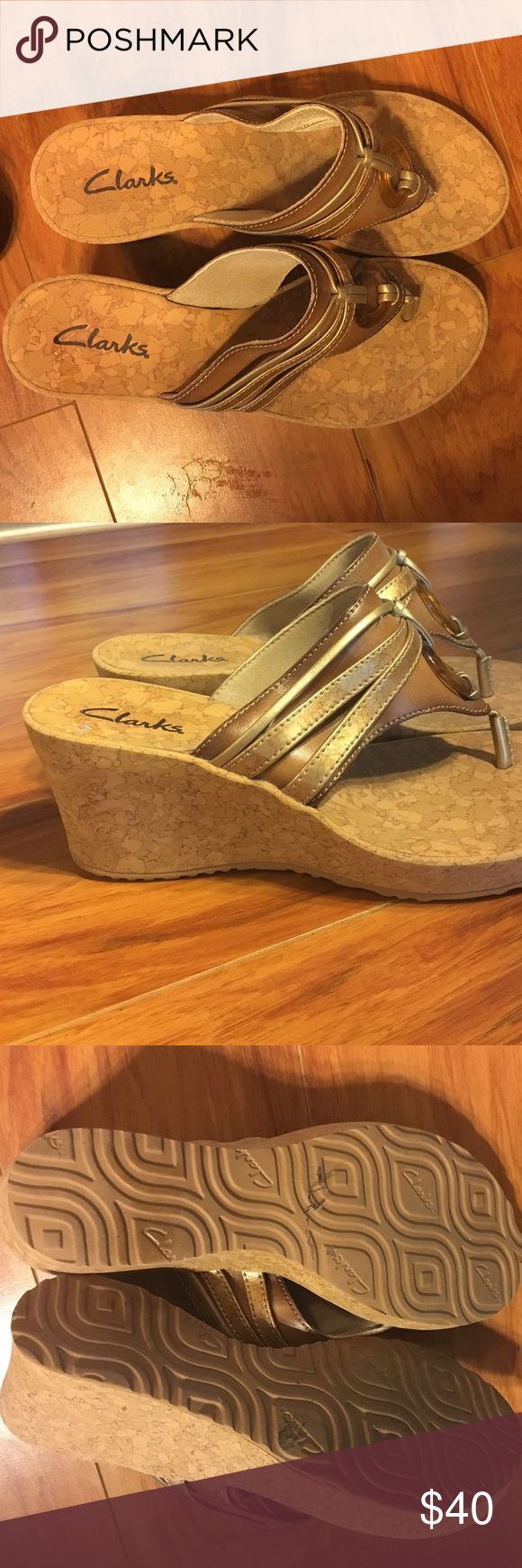 Wedge sandals Clarks wedge sandals (worn only once) Clarks Shoes Sandals
