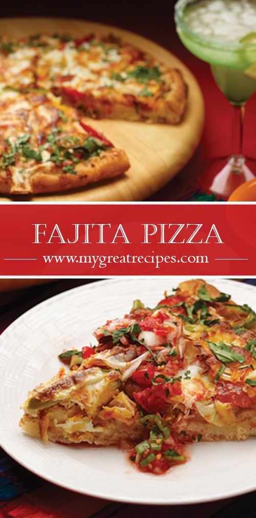 """Beans, peppers, spicy seasoning and cilantro create a chicken fajita pizza that will get the gang into a """"muy bueno"""" mood."""
